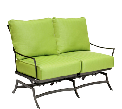 Amelie Wrought Iron Dual Spring Rocking Loveseat