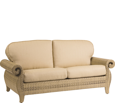 South Shore Wicker Loveseat and a Half