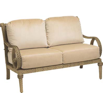 South Shore WIcker Loveseat with Cushions