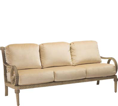 South Shore Wicker Sofa with Cushions