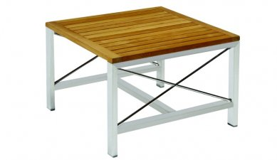Kingsley-Bate Ibiza Stainless Steel and Teak Trim Side Table