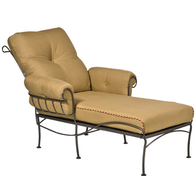 Terrace Wrought Iron Chaise Lounge