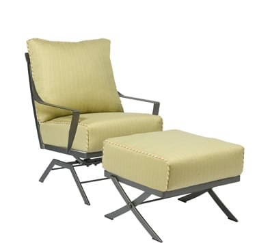 Cromwell Wrought Iron Spring Lounge Chair