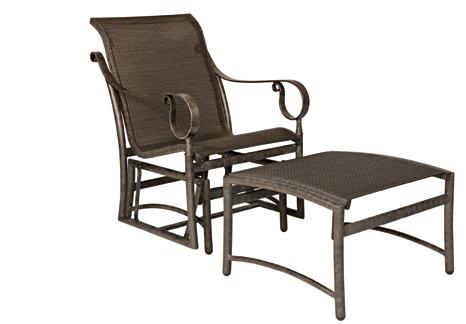 Ridgecrest Aluminum Sling Gliding Lounge Chair