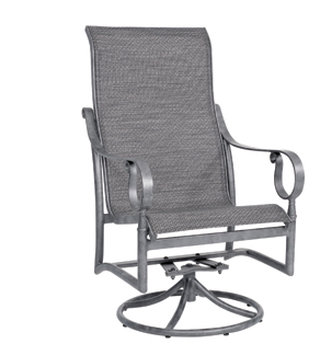 Ridgecrest Aluminum Sling High Back Swivel Rocker