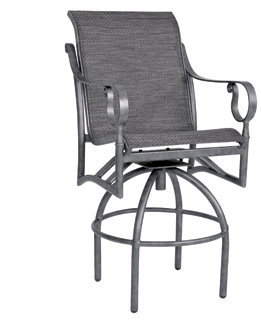 Ridgecrest Aluminum Sling Swivel Bar Stool
