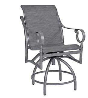 Ridgecrest Aluminum Sling Swivel Counter Stool