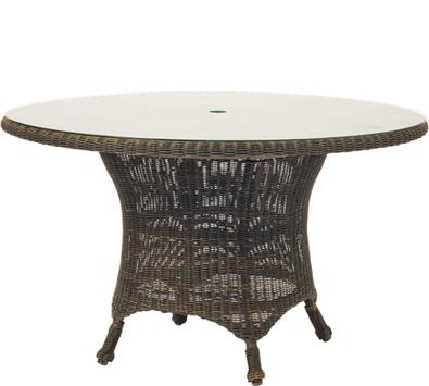 Serengeti Wicker 54� Round Dining Table