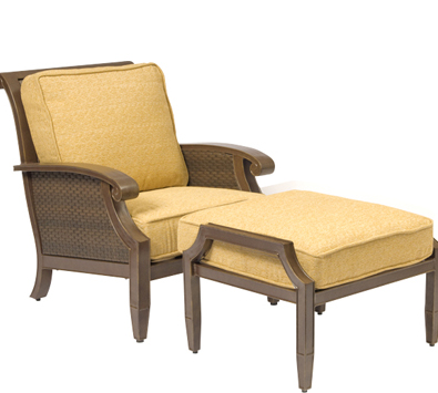 Del Cristo Wicker Stationary Lounge Chair
