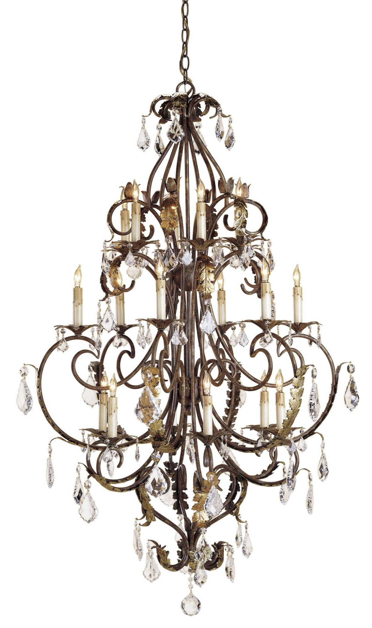Currey & Company Large Heirloom Chandelier