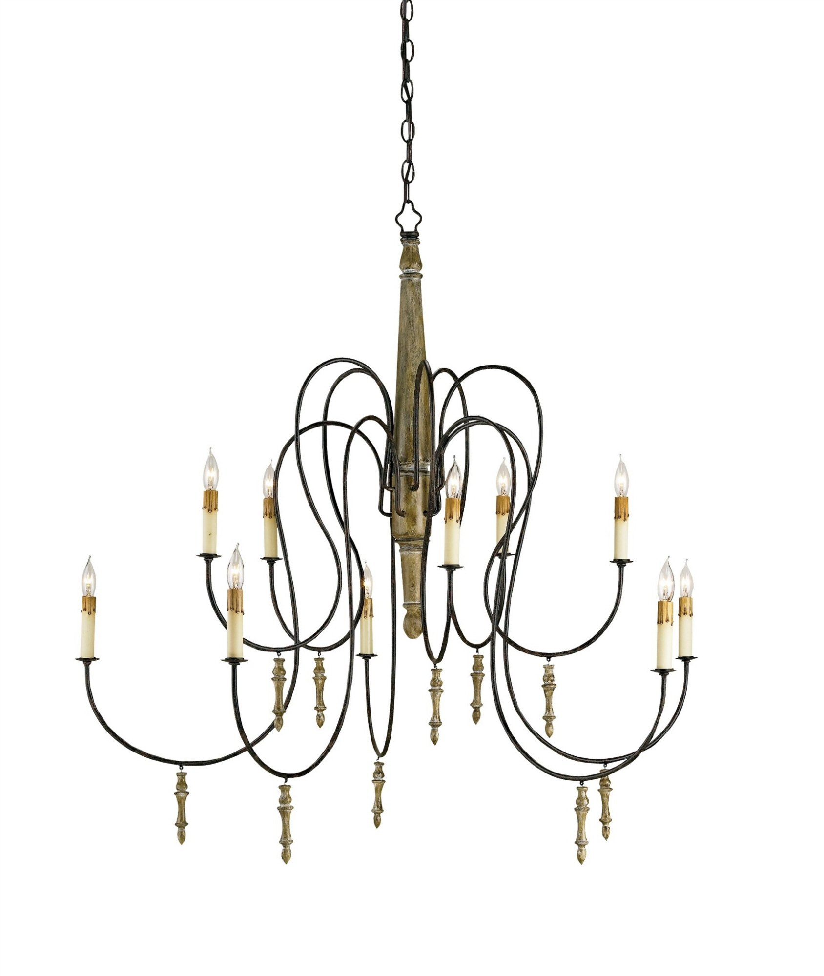 Currey & Company Large Rouleau Chandelier
