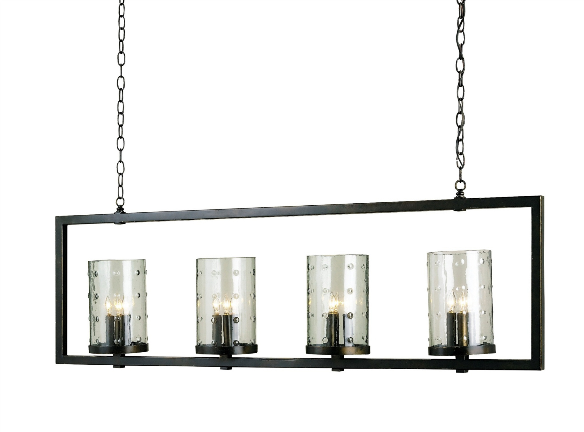 Currey & Company Longhope Rectangular Chandelier