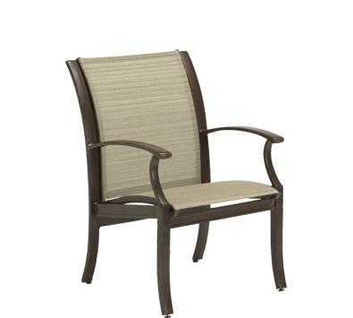 Sheridan Aluminum Sling Dining Arm Chair