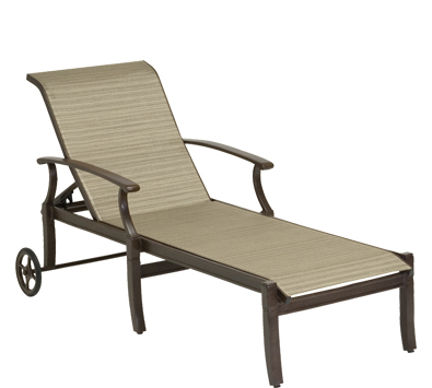 Sheridan sling aluminum adjustable chaise lounge for Aluminum sling chaise lounge