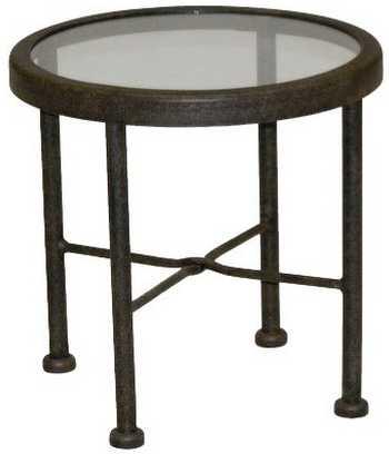 Landgrave Acropolis Cast Aluminum Round End Table