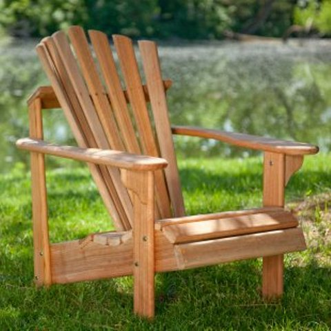 Exclusive! Hyre's Teak Adirondack Chair