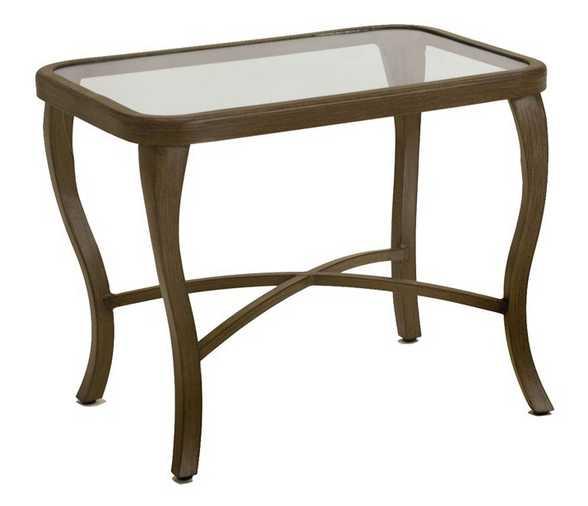 Landgrave Atlanta Cast Aluminum Rectangular Side Table