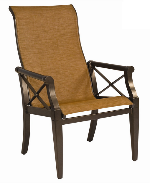 Andover Aluminum Sling High-Back Dining Chair