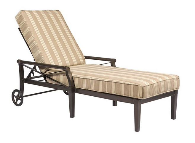 Andover Aluminum Adjustable Chaise Lounge