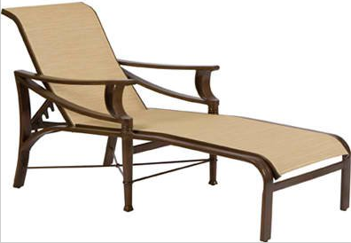 Arkadia Aluminum Sling Adjustable Chaise Lounge