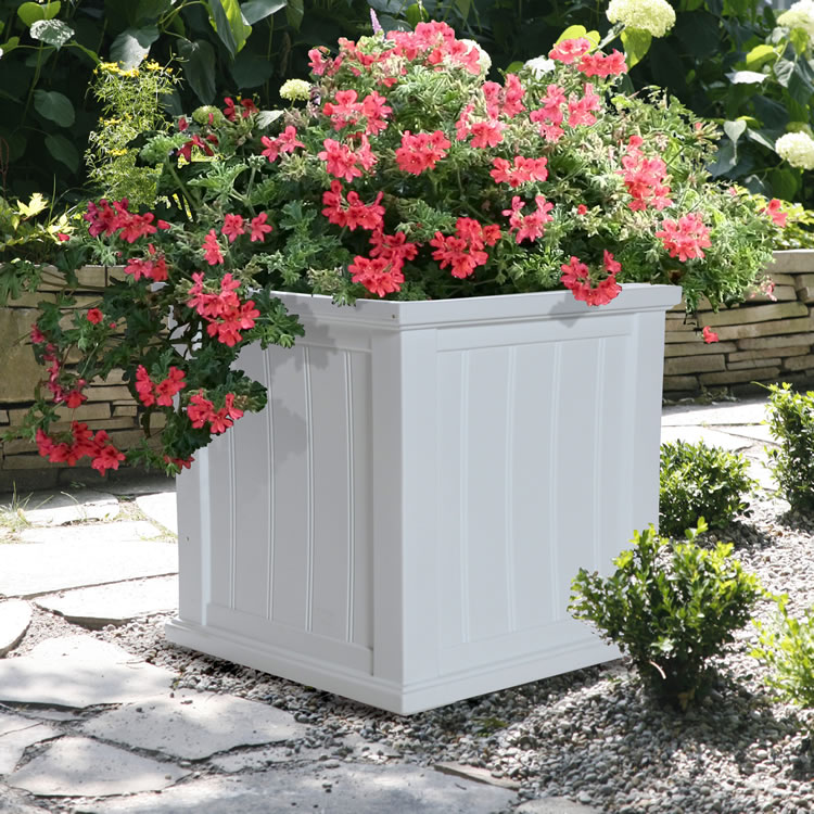 Cape Cod Patio Planter 20x20 Black, White, Clay