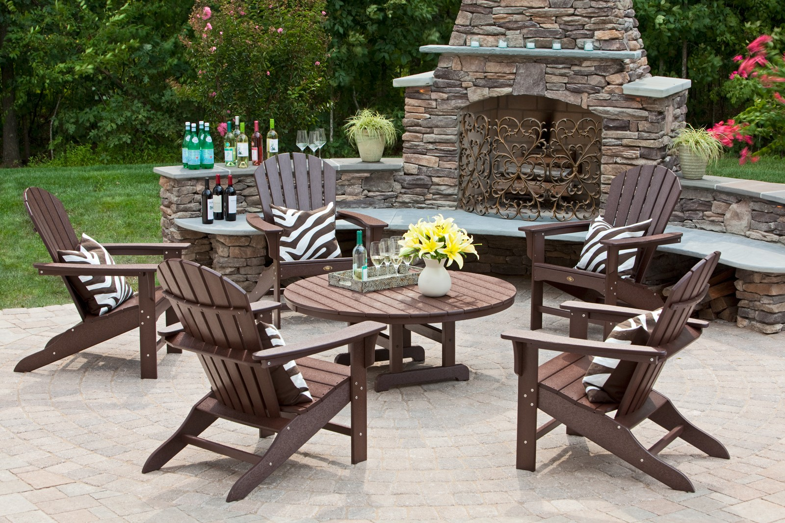 Trex outdoor furniture cape cod 6 piece seating ensemble