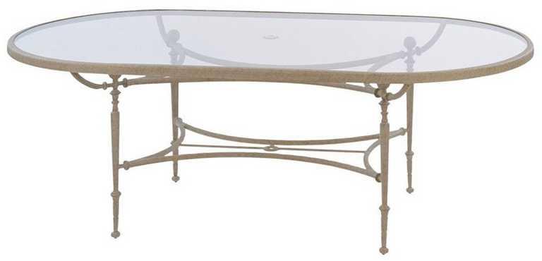 Landgrave Carlyle Cast Aluminum 42� X 84� Oval Umbrella Table