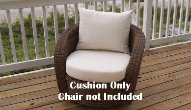Kingsley-Bate Carmel Swivel Lounge Chair Seat and Back Replacement Cushion