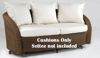 Kingsley-Bate Carmel Settee Seat and Back Replacement Cushions (5 pc set)
