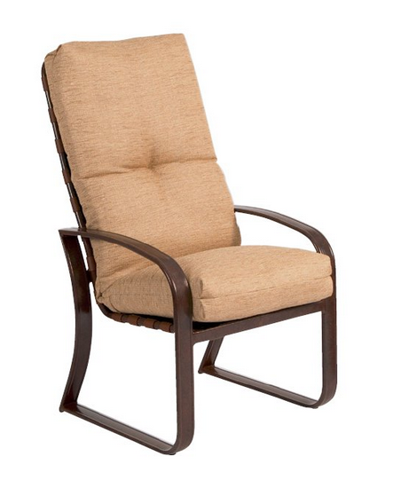 Cayman Isle Aluminum High-Back Dining Arm Chair