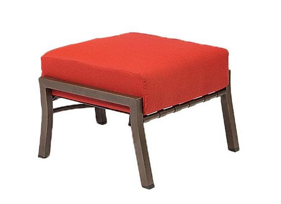 Cortland Cushion Aluminum Ottoman