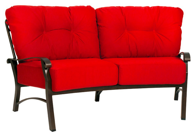 Cortland Cushion Aluminum Crescent Sofa