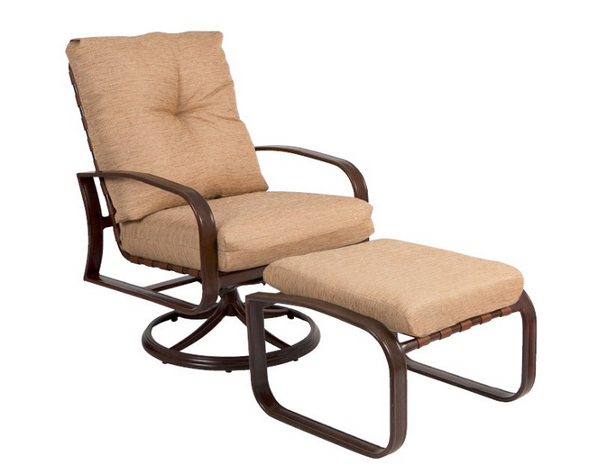 Cayman Isle Aluminum Swivel Rocking Lounge Chair