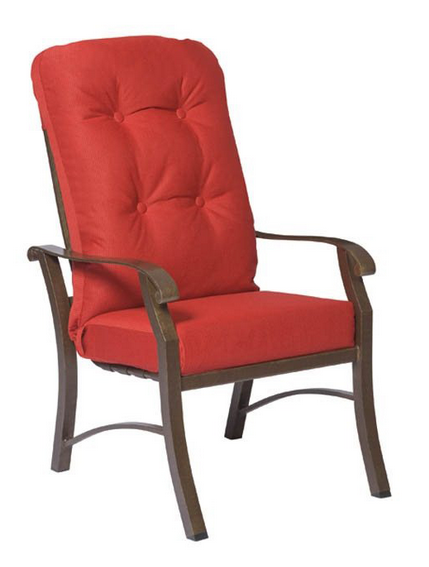 Cortland Cushion Aluminum High-Back Dining Chair