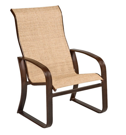 Cayman Isle Aluminum Sling High-Back Dining Chair