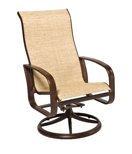 Cayman Isle Aluminum Sling High-Back Swivel Rocker