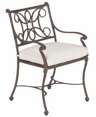 Landgrave Chateau Cast Aluminum Dining Arm Chair