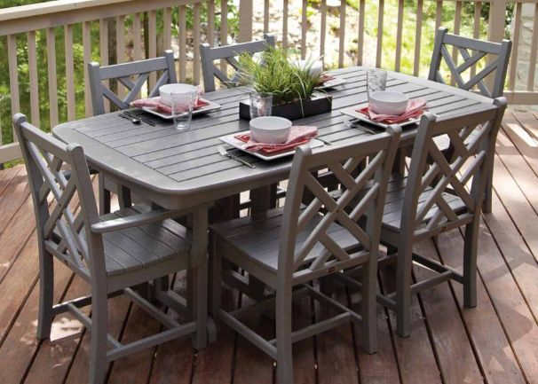 POLYWOOD� 7 Piece Chippendale Dining Ensemble