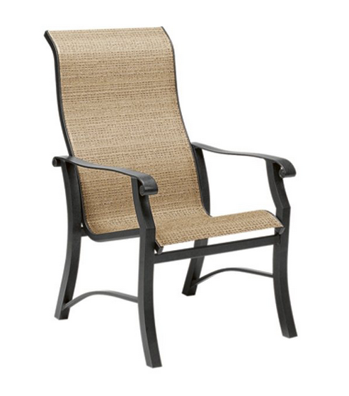 Cortland Aluminum Sling High-Back Dining Chair