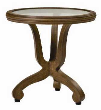 Landgrave Cozumel Cast Aluminum End Table with Glass Top