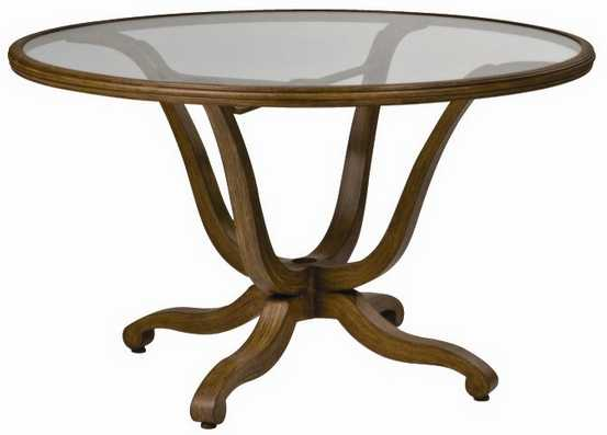 Landgrave Cozumel Cast Aluminum 48� Dining Table with Glass Top