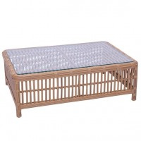 Kingsley-Bate Havana Rattan Wicker Coffee Table w/ Glass