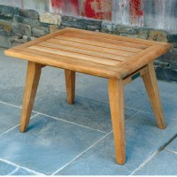 "Ipanema 25"" x 24"" Rectangular Teak Side Table"