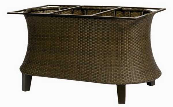 Del Cristo Wicker Large Dining Table Base
