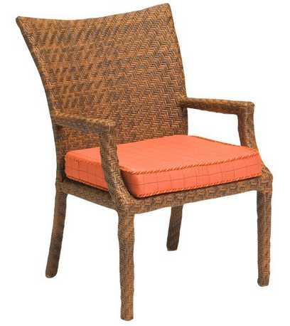 Domino Wicker Dining Arm Chair