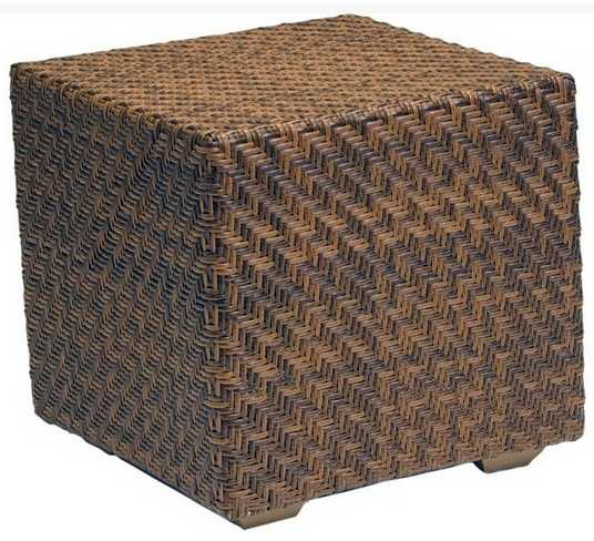 Domino Wicker Cube Side Table