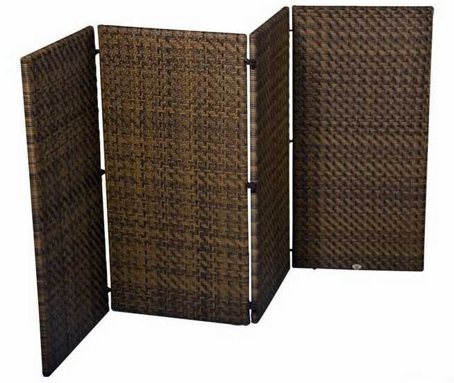 Domino Wicker 4 Panel 4′ Screen