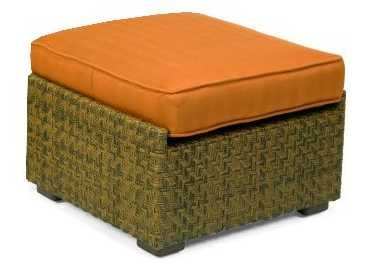 Domino Wicker Ottoman