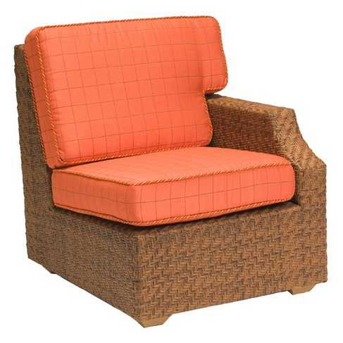 Domino Wicker Left Arm Lounge Chair