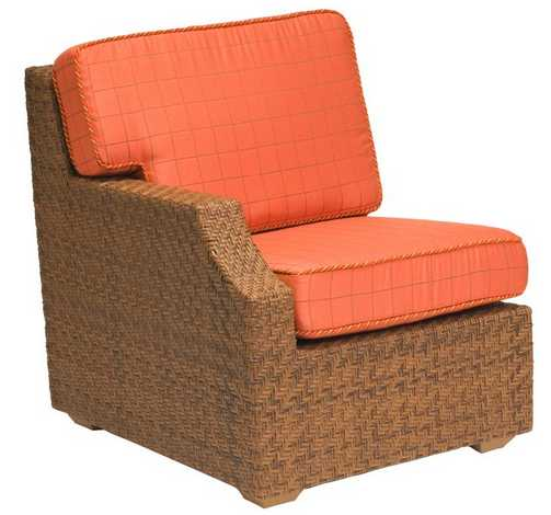 Domino Wicker Right Arm Lounge Chair